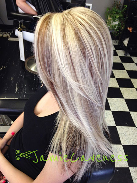 Blonde Lowlights Highlights Brown Balayage Long