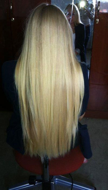 Blonde Long Highlights Women Tips Straight Lowlights
