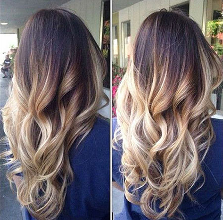 Balayage Ombre Brown Blonde Black Waves Summer
