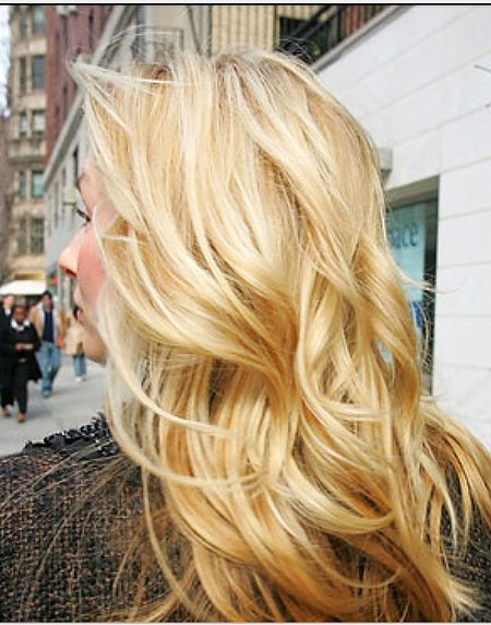 Blonde, Highlights, Golden, Curls, Waves