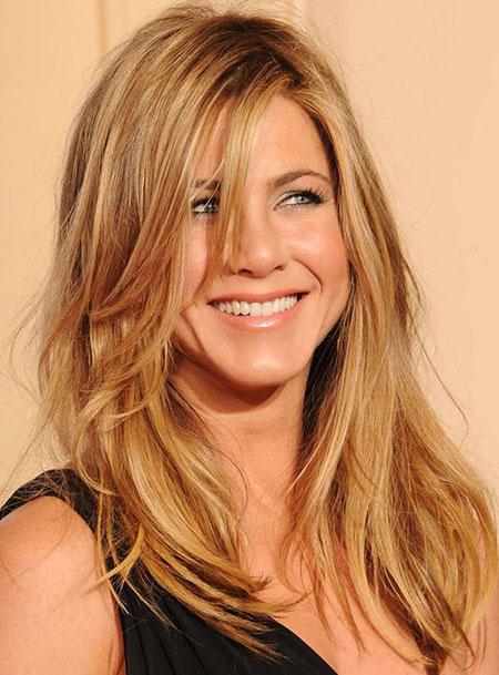 Jennifer Aniston Long Layered One Blonde Actress