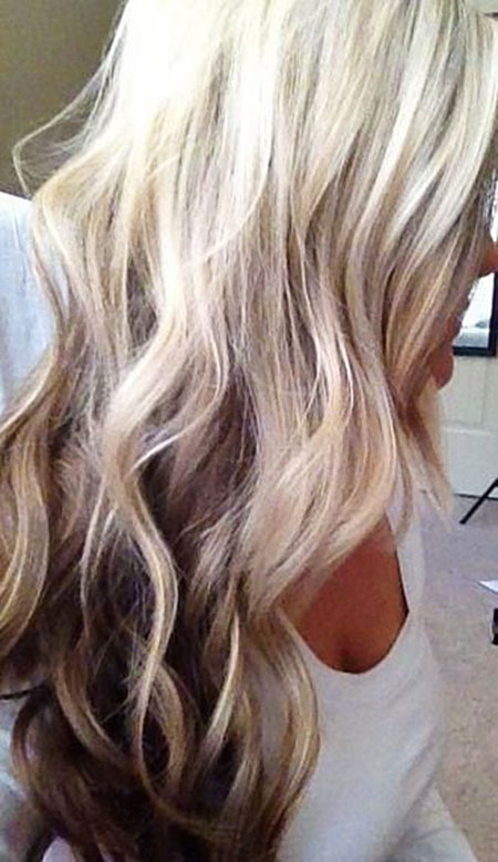 Blonde, Highlights, Brown, Balayage, Wave, Tips, Fall, Colors