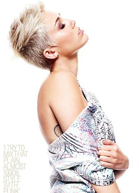 Miley, Cyrus, Short, Pixie, Blonde, Ball