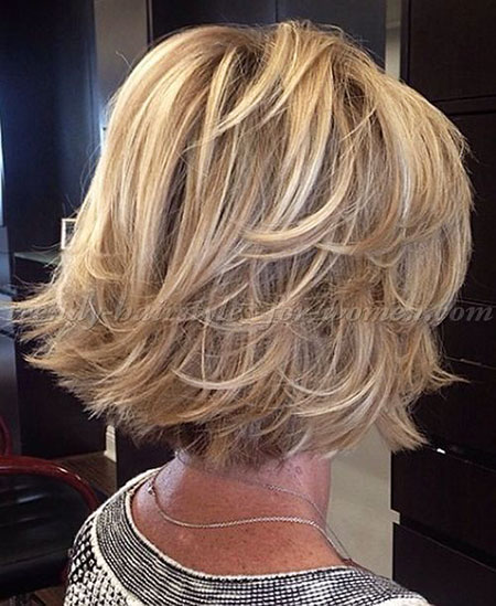 Blonde Bob Hairstyles, Short Hairstyles, Over, Layered