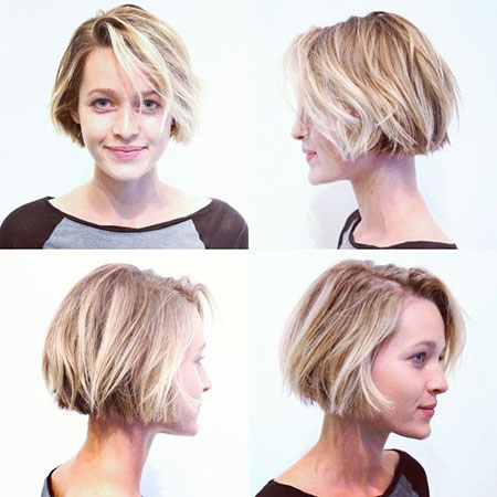 Short Hairstyles, Pixie Cut, Blonde Bob Hairstyles, Wavy, Layered