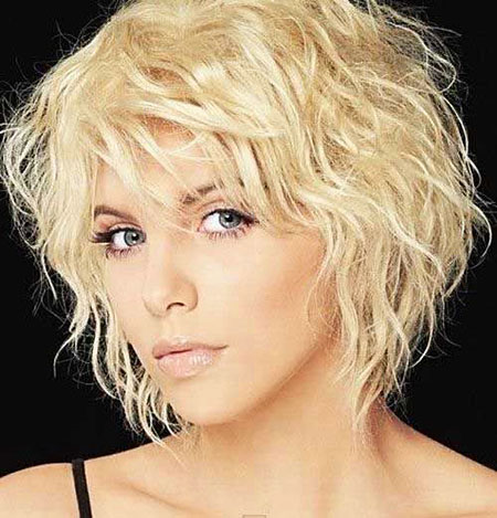 Short Hairstyles, Waves, Thin, Shaggy, Lowlights