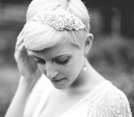 Wedding, Veil, Pixie Cut, Birdcage, Lucille, Lob, Headpieces