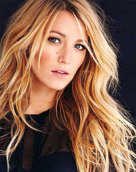 Long, Lively, Layered, Highlights, Capelli, Blonde, Blake