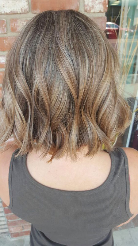 Blonde, Balayage, Short, Dark, Bob, Trend, Textured, Summer
