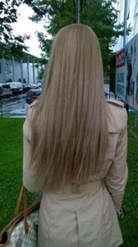 Blonde Medium Ash Ombre Long Highlights Dark Balayage
