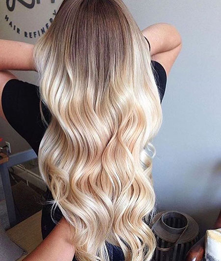 Blonde Balayage Ombre Long Highlights