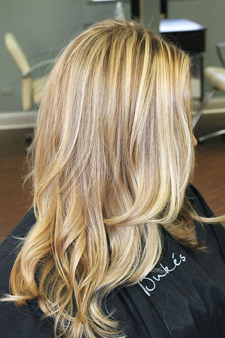Blonde Highlights Golden Balayage Light Fashion