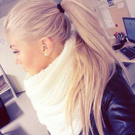 Blonde, Ponytail, Ponytails, Up, Tail, Sleek, Simple, Pony