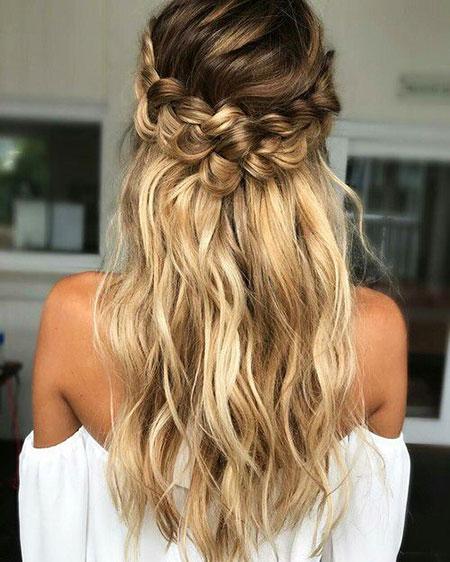 Wedding Waterfall Updo Long Braided Braid