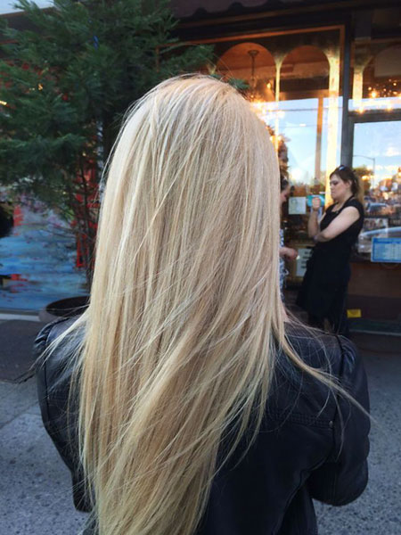 Blonde, Highlights, Straight, Lowlights, Long, İce, Balayage