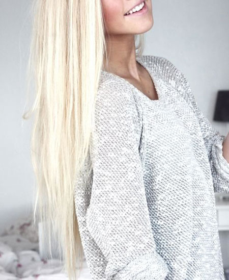 White, Ponytail, Length, Grey, Blonde