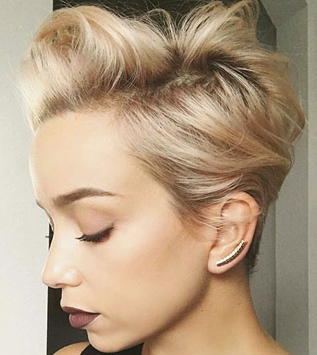 Short Hairstyles, Blonde Hairstyles, Updo, Pixie Cut, Layered