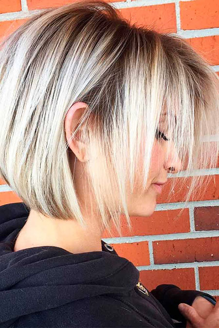 Short Hairstyles, Blonde Hairstyles, Trend, Round, Rose, Gold, Fine