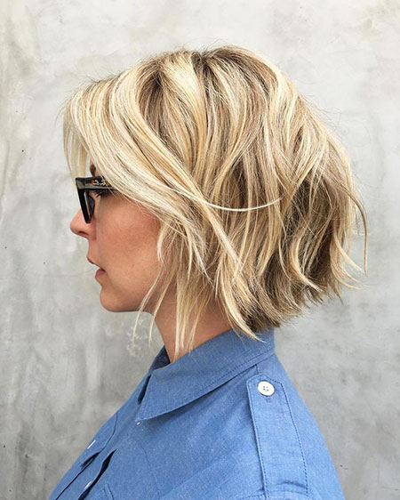 Blonde Bob Hairstyles, Short Hairstyles, White, Trendy, Summer, Shaggy, Natural
