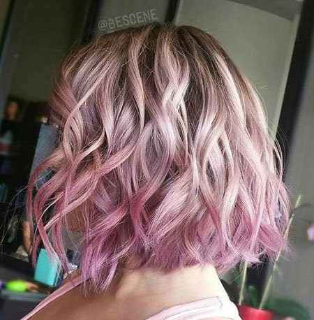 Short Hairstyles, Pastel, Purple, Pink, Brown, Trends