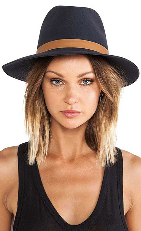 Short Hairstyles, Panama, Hat, Floppy, Women, Wide