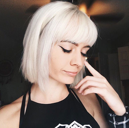 Blonde Bob Hairstyles, Blonde Hairstyles, Bangs