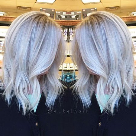 Blonde Hairstyles, Short Hairstyles, Icy, Haircolor, Blond, Bangs, Balayage