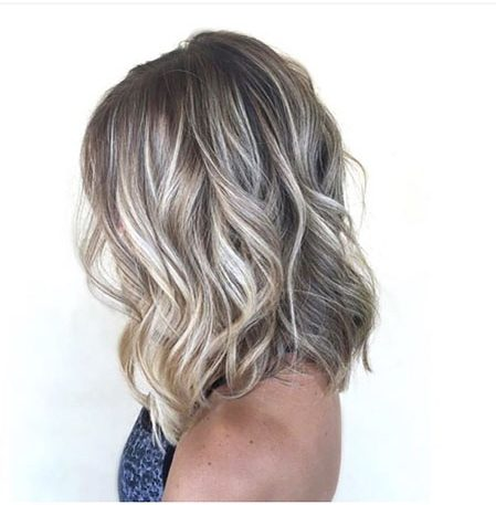 Blonde, Ash, Balayage, Short, Ombre, Medium, Length, Highlights