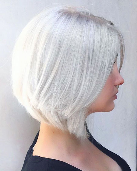 Blonde, Layered, Gray, Bobs, Bob, Silver, Haare, Graue, Colors, Blondes