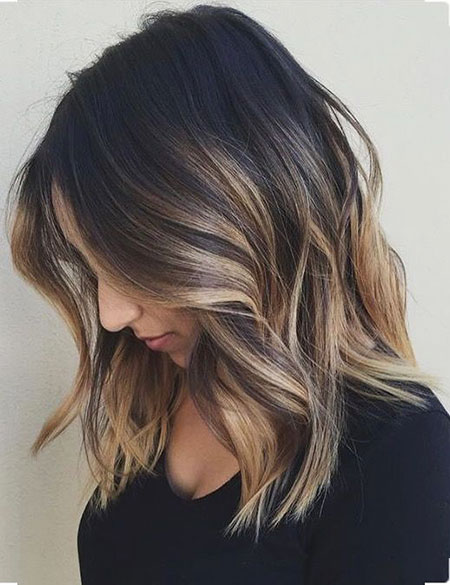 Balayage, Length, Choppy, Brunette, Blonde, Black
