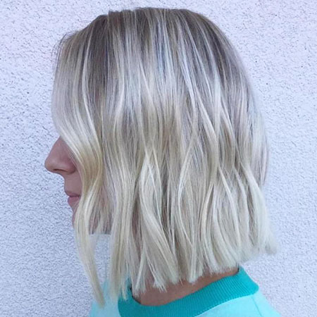 Blonde, Platinum, Highlights, Bob, Balayage, White
