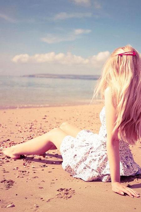 Beach, Girl, Face, Easy