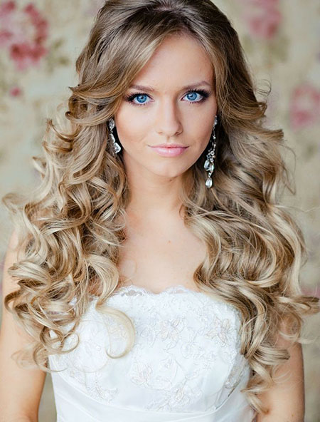 Wedding Long Curly Curls World Thin Curl Bridal