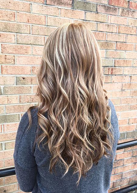 Brown Highlights Blonde Balayage Light