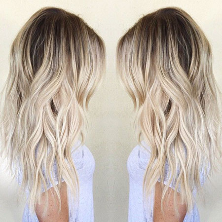 Blonde Balayage Medium Long Length Girls