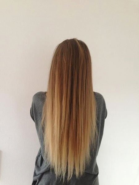 Ombre Blonde Straight Cute Brown