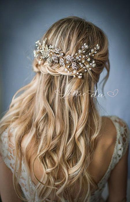 Wedding, Down, Bridal, Up, Silver, Half, Gold