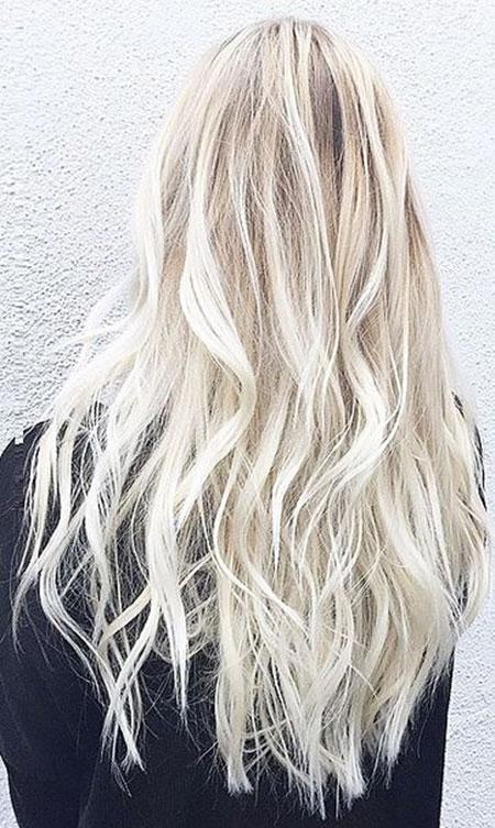 Blonde Balayage White Platinum Highlights