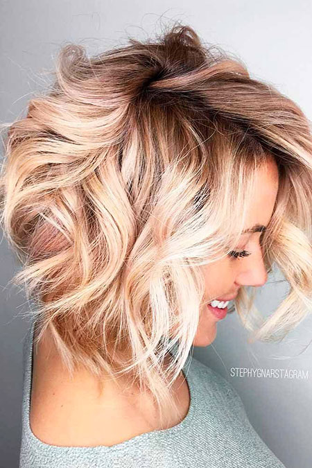 Blonde Hairstyles, Blonde Bob Hairstyles, Short Hairstyles, Medium, Loose, Fun