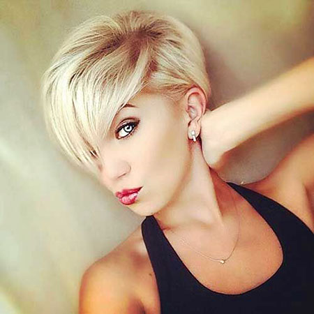 Pixie Cut, Straight Hairstyles, Oval, Blonde Hairstyles