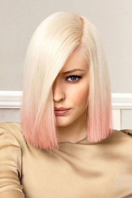Image: 46 Short Blonde Pink Hair Color – Blonde Hairstyles 2017