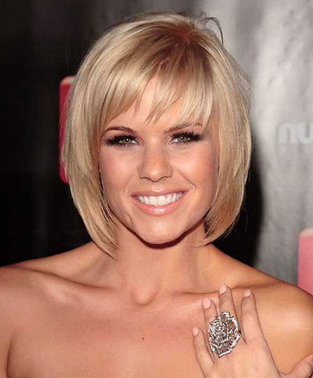 Short Hairstyles, Blonde Bob Hairstyles, Bangs, Thin