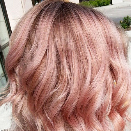 Gold, Rose, Pink, Pretty, Ombre, Highlights, Blonde Hairstyles