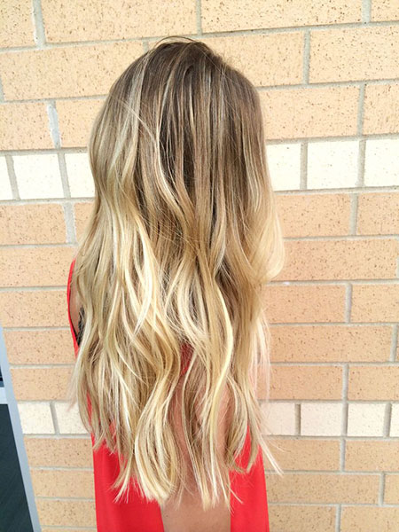 Blonde Highlights Balayage Low Long Dirty