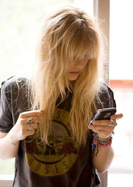 Blonde, Long, Bangs, Fringe