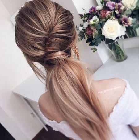 Wedding, Fashion, Updo, Ponytail, Long, Flowercrown, Flower, Crown, Braided