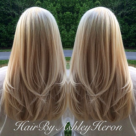 Long Blonde Highlights Really Lowlights Layers Layered
