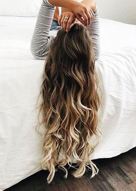 Ombre Waterfall Pretty Highlights Braid Beach Balayage