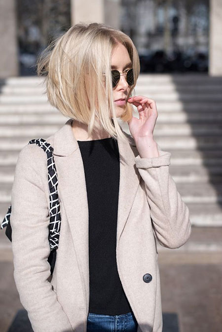 Short Hairstyles, Blonde Bob Hairstyles, Women, Trendy, Street