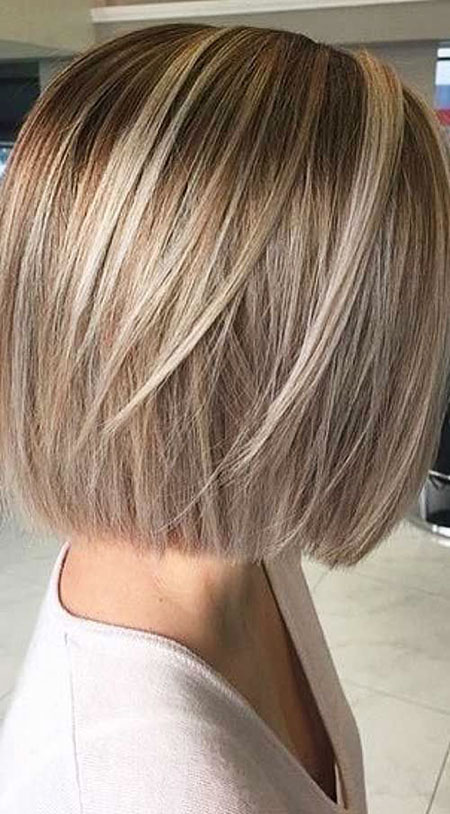 Blonde Bob Hairstyles, Layered, Balayage, Short Hairstyles
